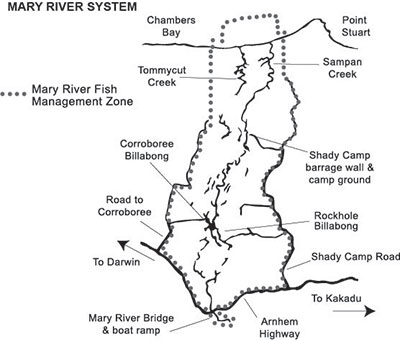 Mary River system map