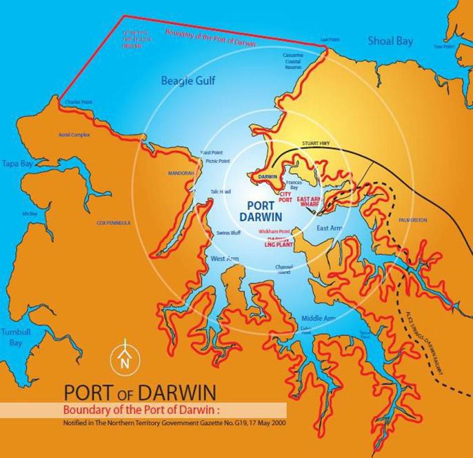 Darwin port boundaries