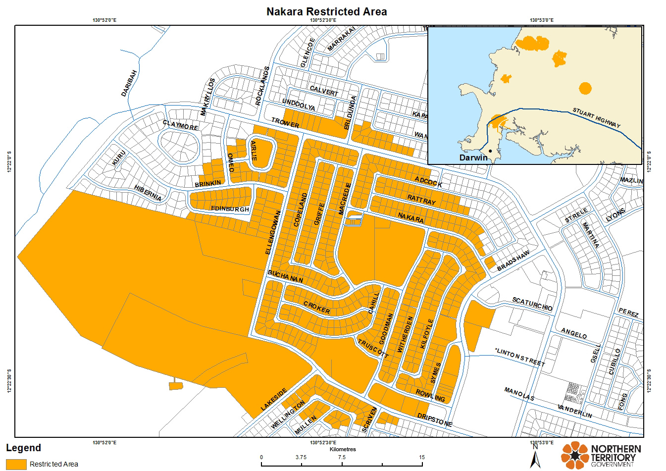 Nakara restricted area