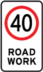 Road Work sign 40