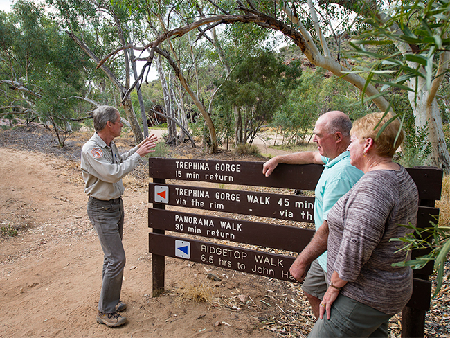 Trephina Gorge Nature Park - directional signs