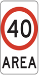 Local traffic zone sign 40
