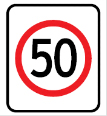 Regulatory speed signs