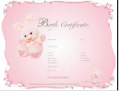 Pink bunny birth certificate