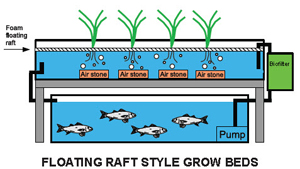 Floating raft growbeds