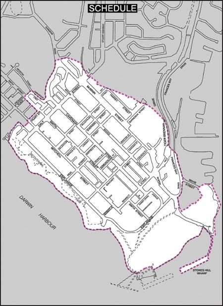 Map of designated area in Darwin