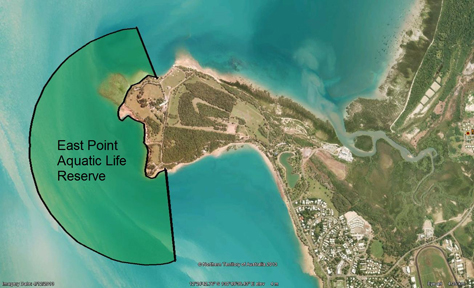 Map of the East Point Aquatic Life Reserve