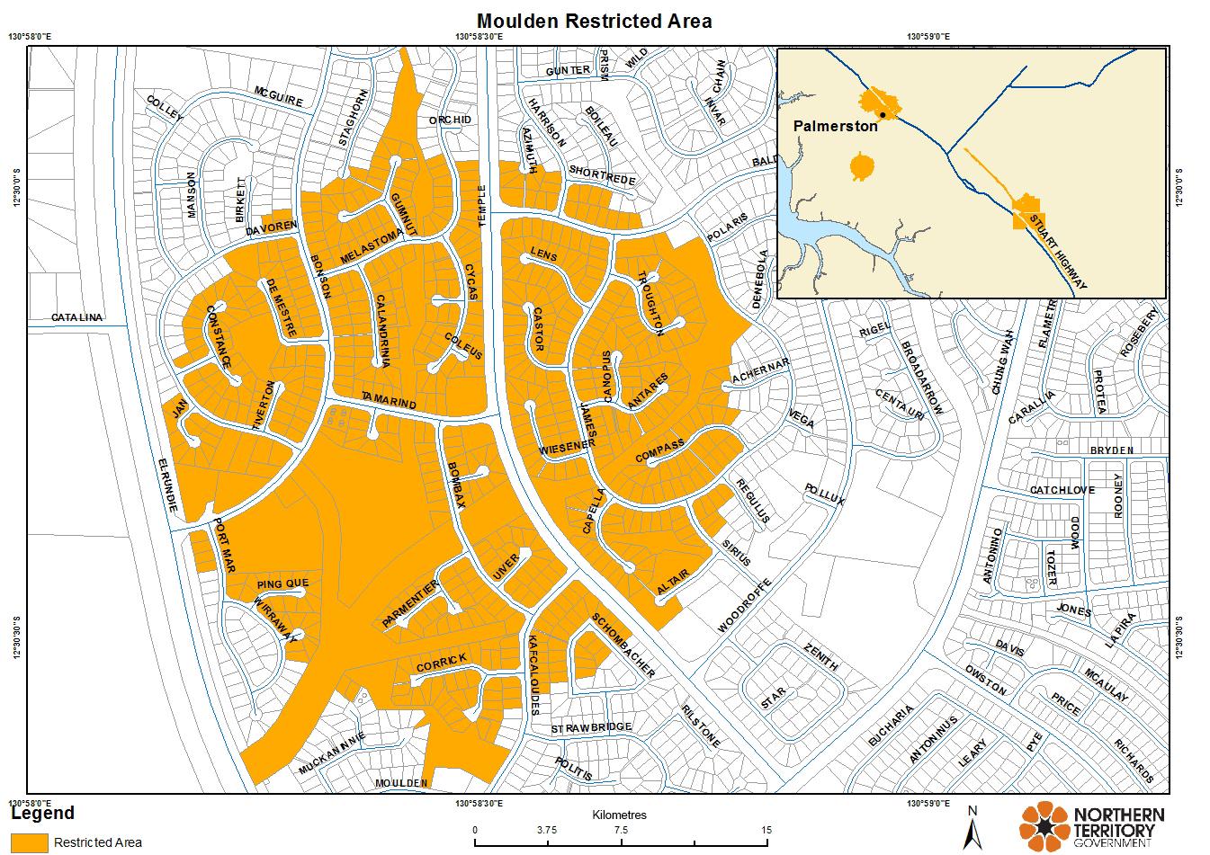 Moulden restricted area