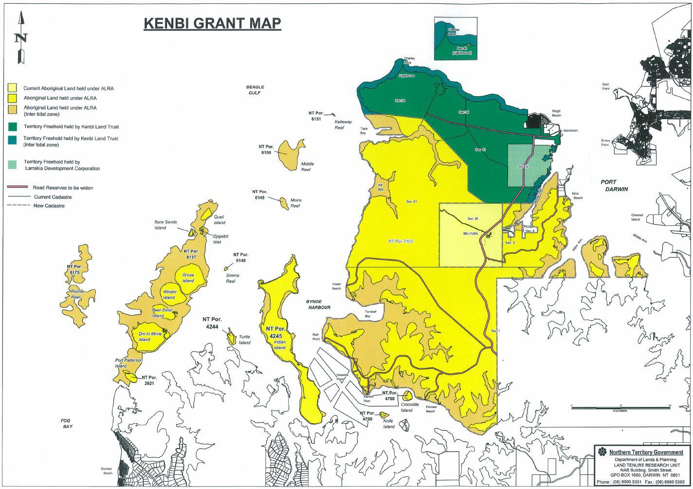 Kenbi grant map