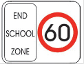 End school zone sign
