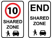 Shared zone sign 10