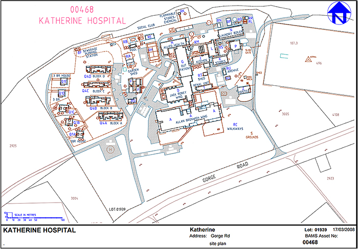 Katherine Hospital map