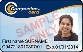 Example companion card