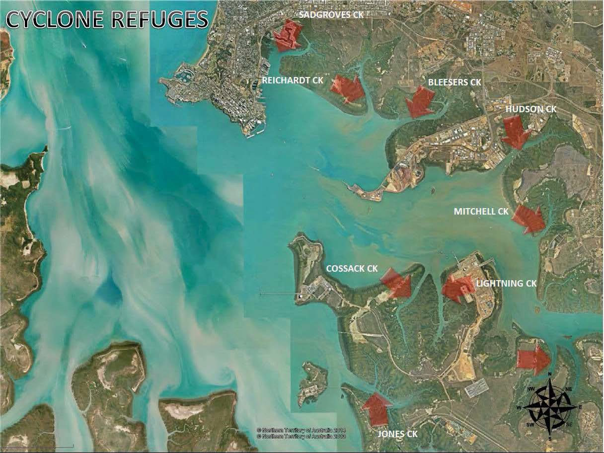 Darwin Harbour cyclone refuges