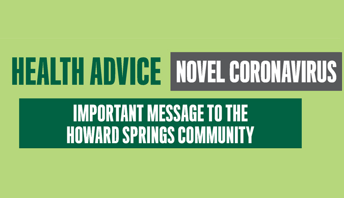 Health advice - Novel Coronavirus