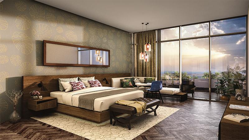 Hotel concept interior view