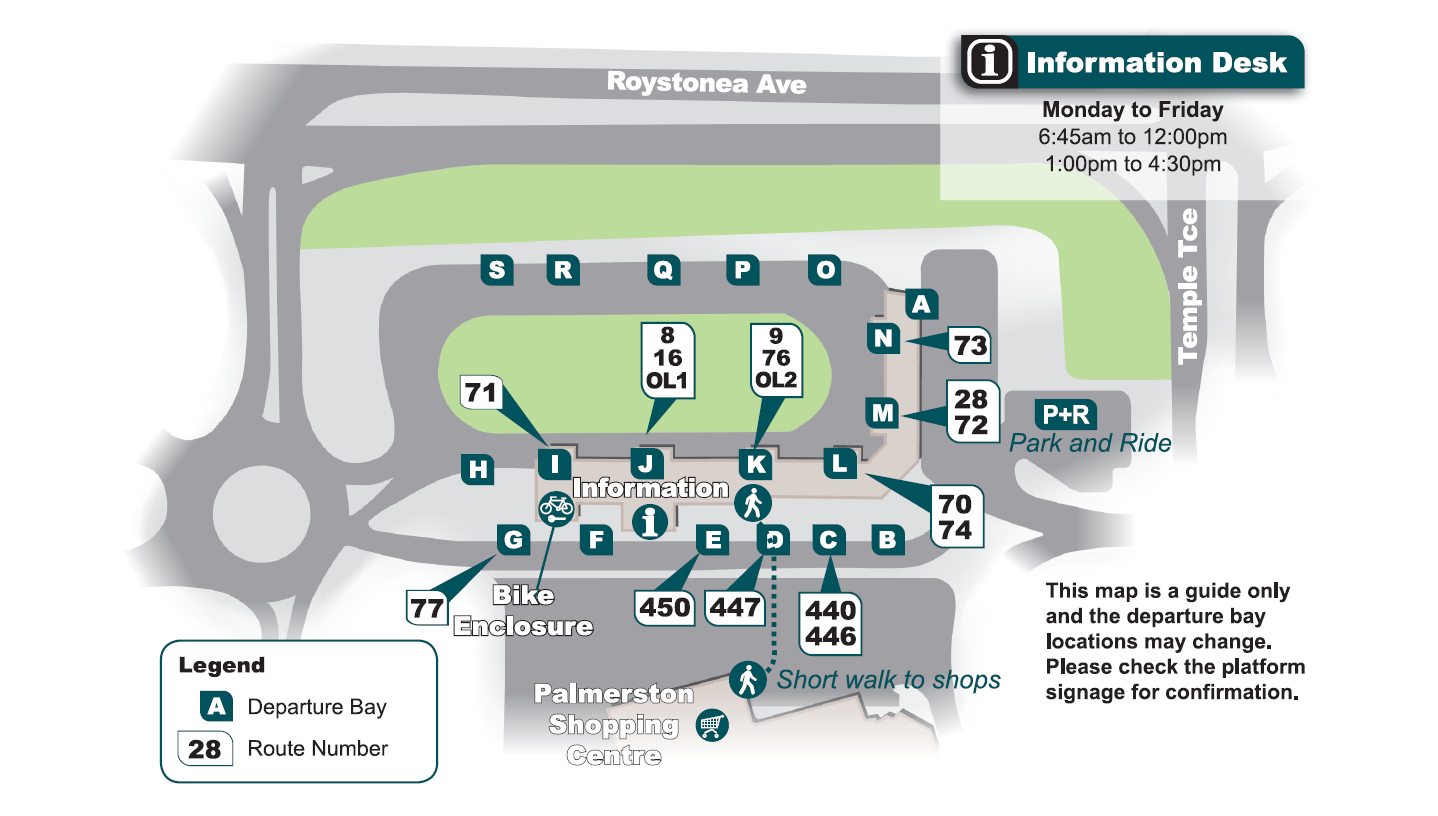 Palmerston interchange map