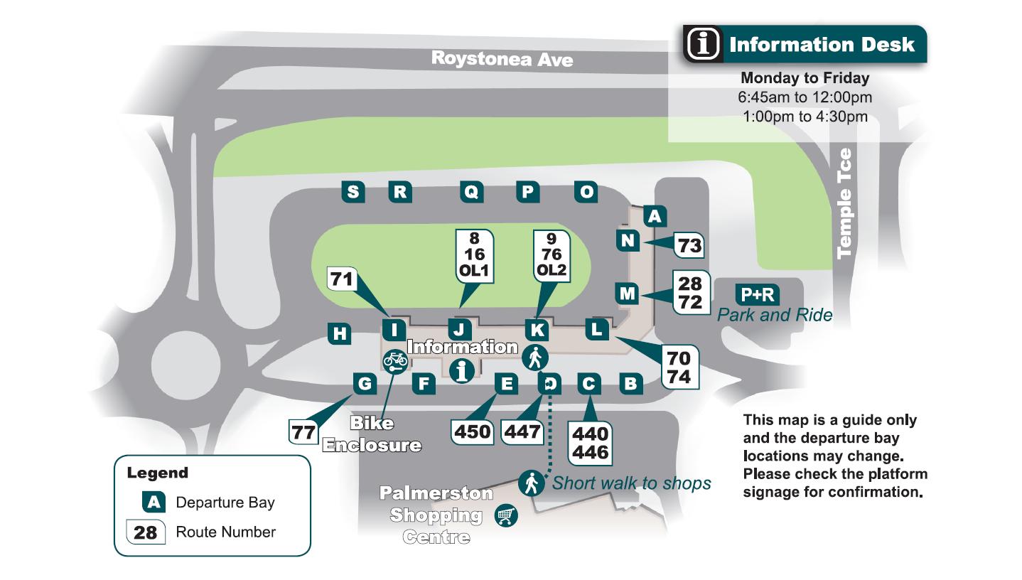 Palmerston interchange map