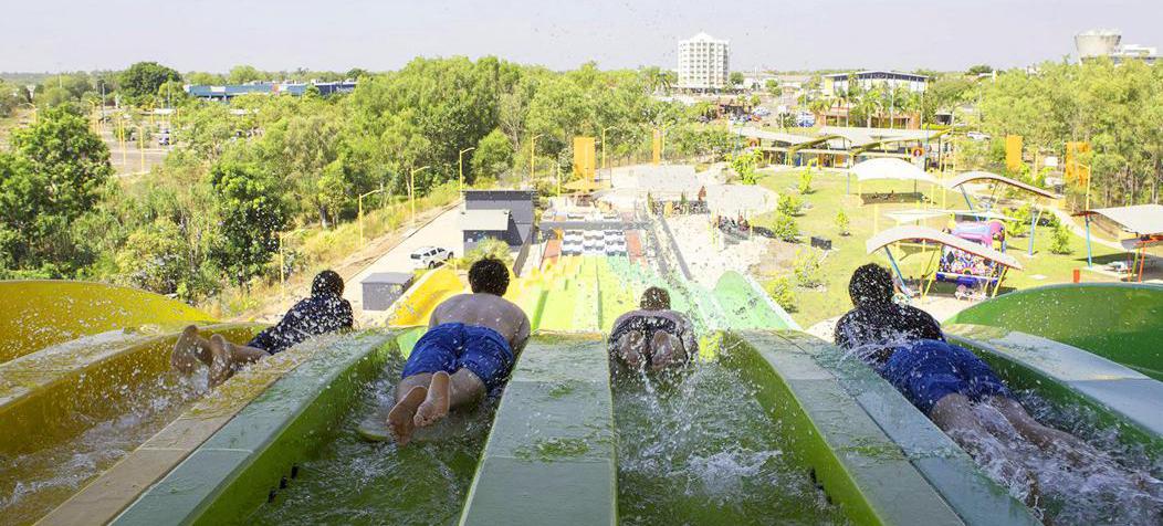 Palmerston water park slide