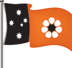 NT flag - flying pole version