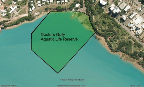 Map of the Doctors Gully Aquatic Life Reserve