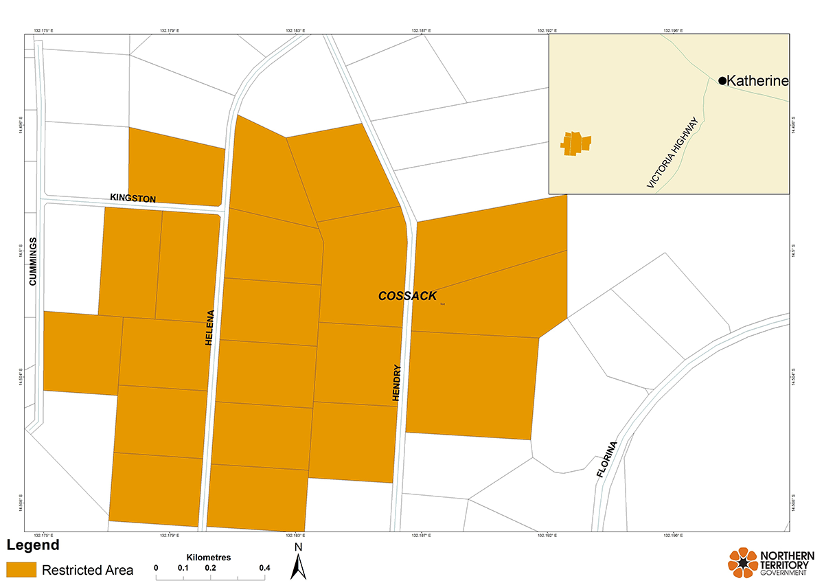 Katherine restricted area map